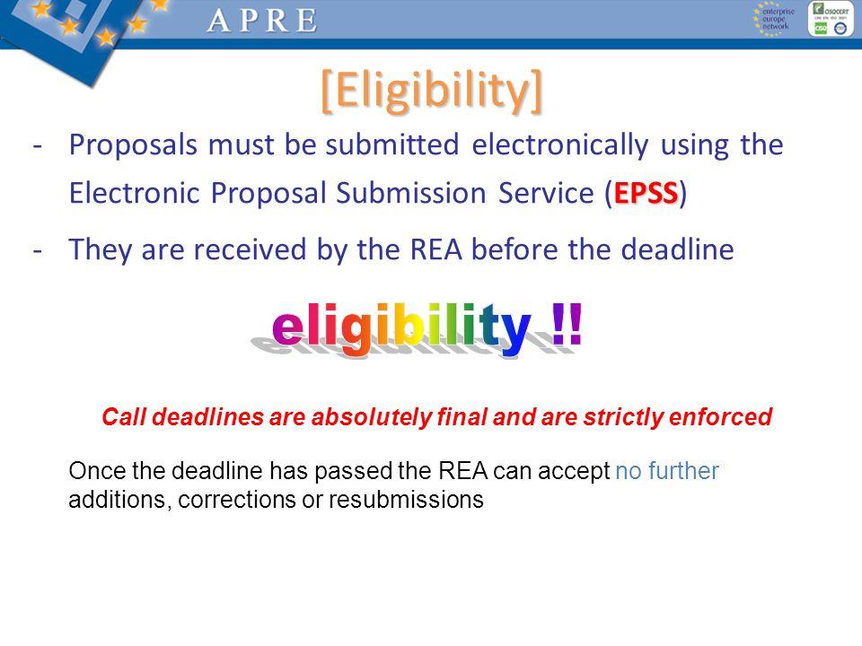 [Eligibility] eligibility !!